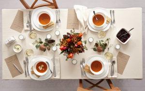 soep op tafel